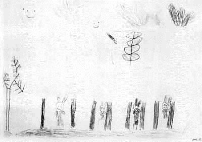 Мультяшные звери рисуют